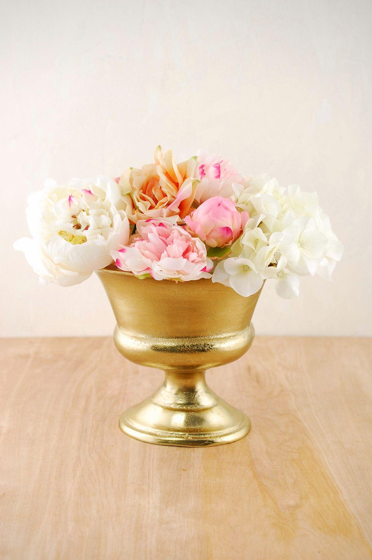 Gold metal vase for centerpiece arrangements metals gold and gold metal vase for centerpiece arrangements reviewsmspy
