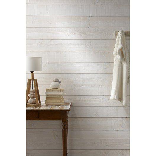 Lambris Bois Sapin Brut De Sciage Blanc Artens 235x13 5cm Ep 13 5mm Lambris Pvc Pvc Plafond Lambris Pvc Blanc