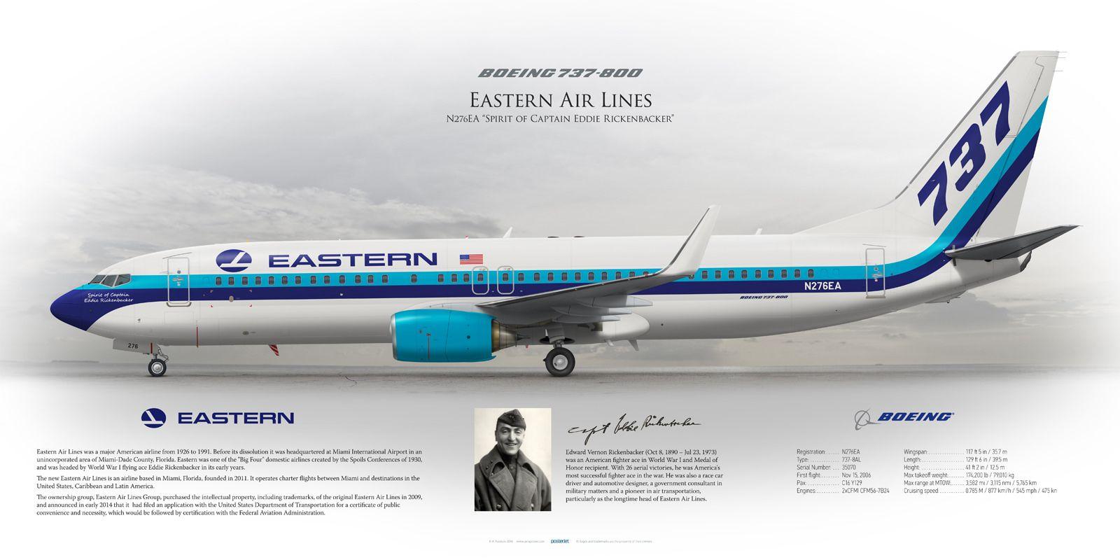 https://flic.kr/p/LU58Qt   Boeing 737-800 Eastern Air Lines N276EA ...
