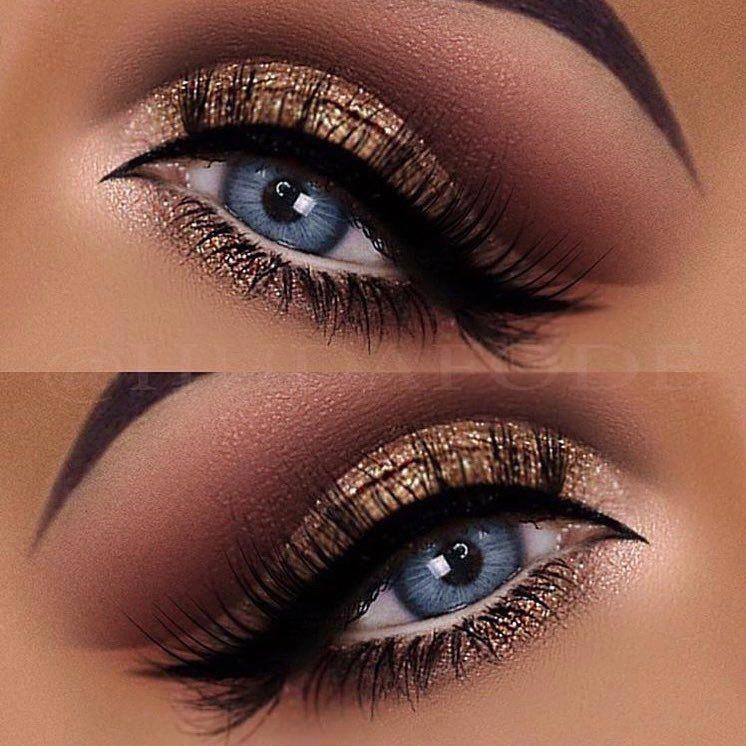 Makeup Revolution India Maquillaje Ojos Azules Maquillaje De Ojos Con Brillo Y Maquillaje De Ojos