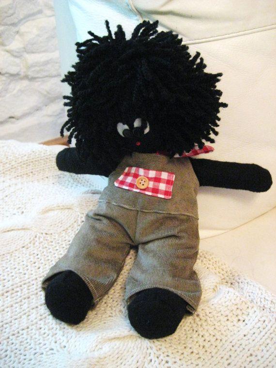Handmade Cute Fabric Golly Golliwog Gollywog Collectors by n5nsy, £40.00. Made by my wonderful friend Nancy x x