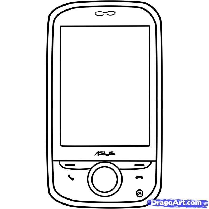 Printable Phone Coloring Pages Coloring Pages For Kids And
