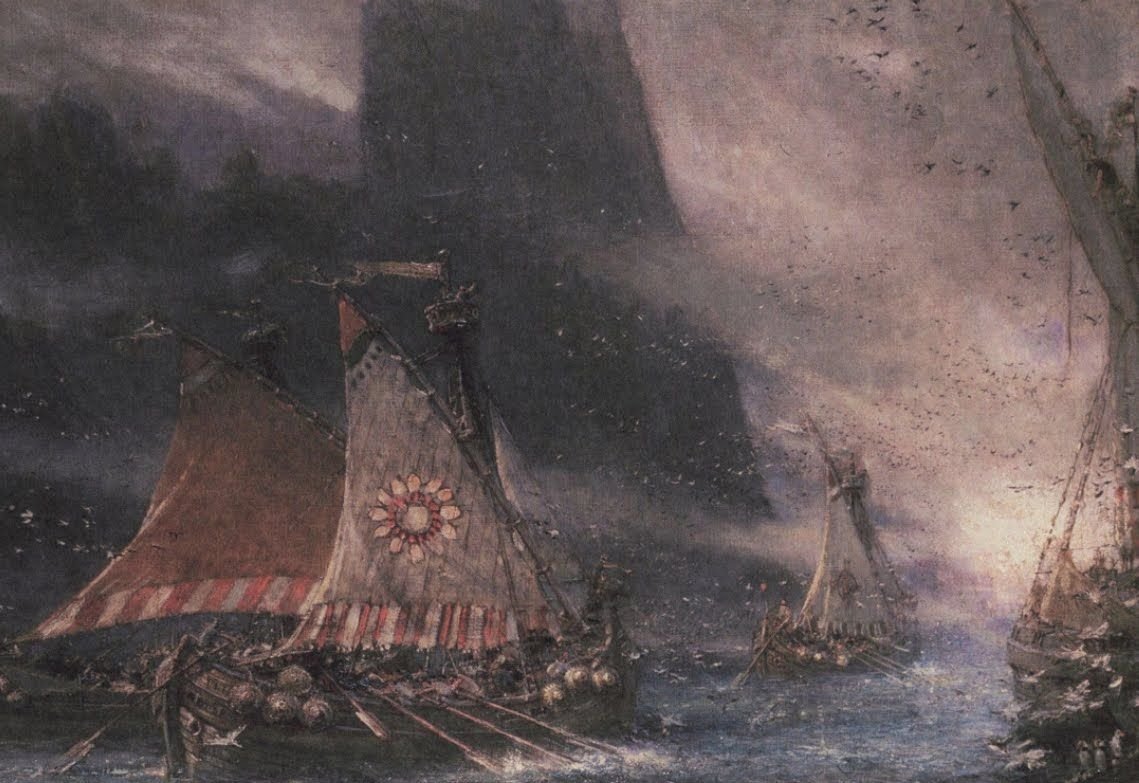 Viking raiders sailing into the midst   Viking War Art   Pinterest ...