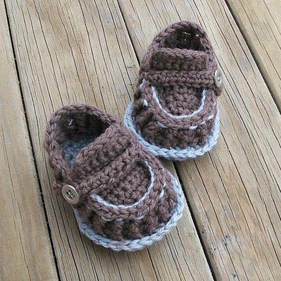 baby loafers crochet pattern