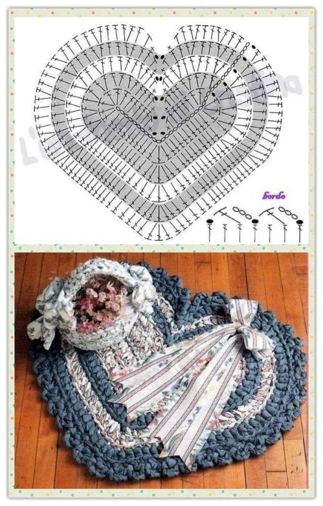 Corazón en crochet   Patrones de Crochet   Pinterest   Patrones de ...