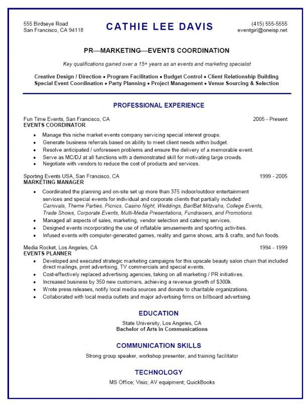 Event Planner Resume Template Pinterest Sample Resume Resume