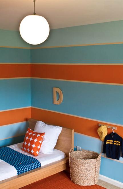Blue Orange And Cream Oh My Lovely Colors For A Child S Bedroom Orange Bedroom Decor Bedroom Orange Room Colors