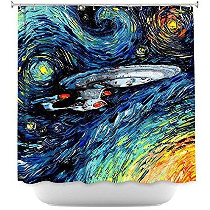 Van Gogh Star Trek Shower Curtain Geek Style Star Trek
