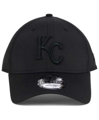 New Era Kansas City Royals Black/Black Perf Tech 9FORTY Adjustable Cap - Black Adjustable