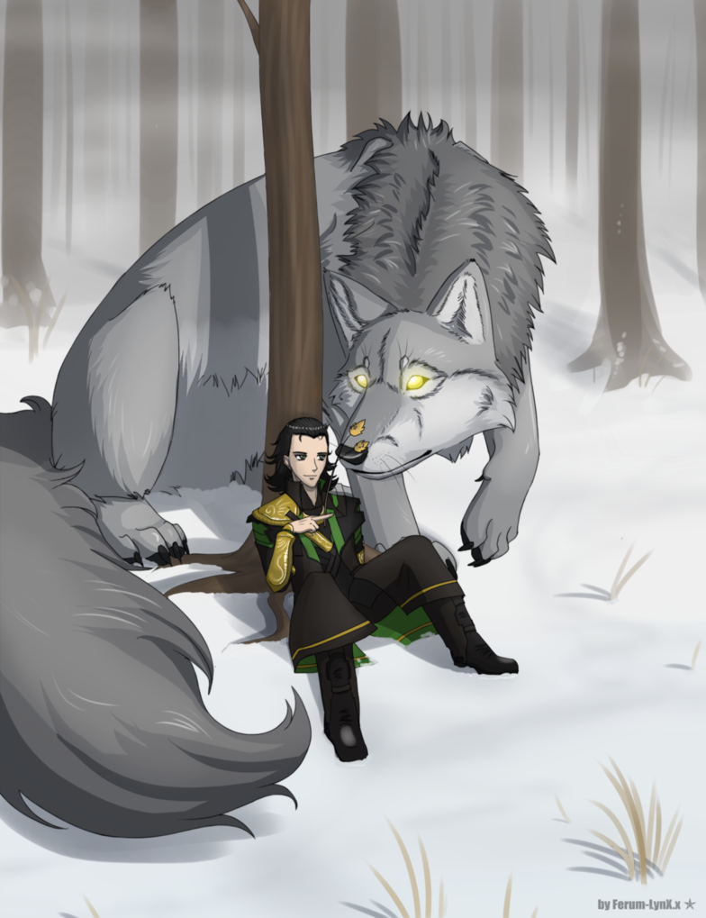 Loki and Fenrir by thegryph on DeviantArt |Loki Fenrir