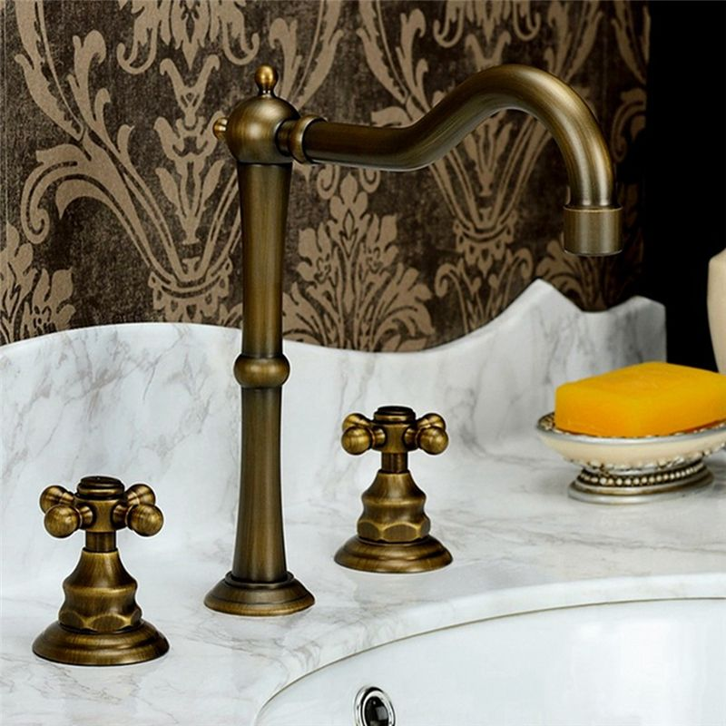 Antique Brass Basin Faucet Special High Sink Tap Sink Faucets Widespread Bathroom Faucet Bathroom Sink Faucets