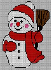 Photo of Christmas Snowman Jumper / Sweater Knitting Pattern #18