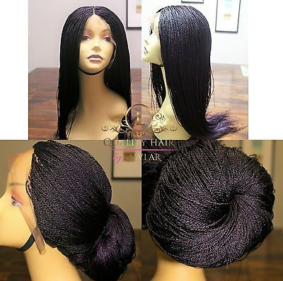Micro Braided Lace Front Wig Million Braids Wig Women S Wig Braided Wig Cap Microbraids Braidedwig Lace Front Wigs Curly Hair Styles Stylish Hair