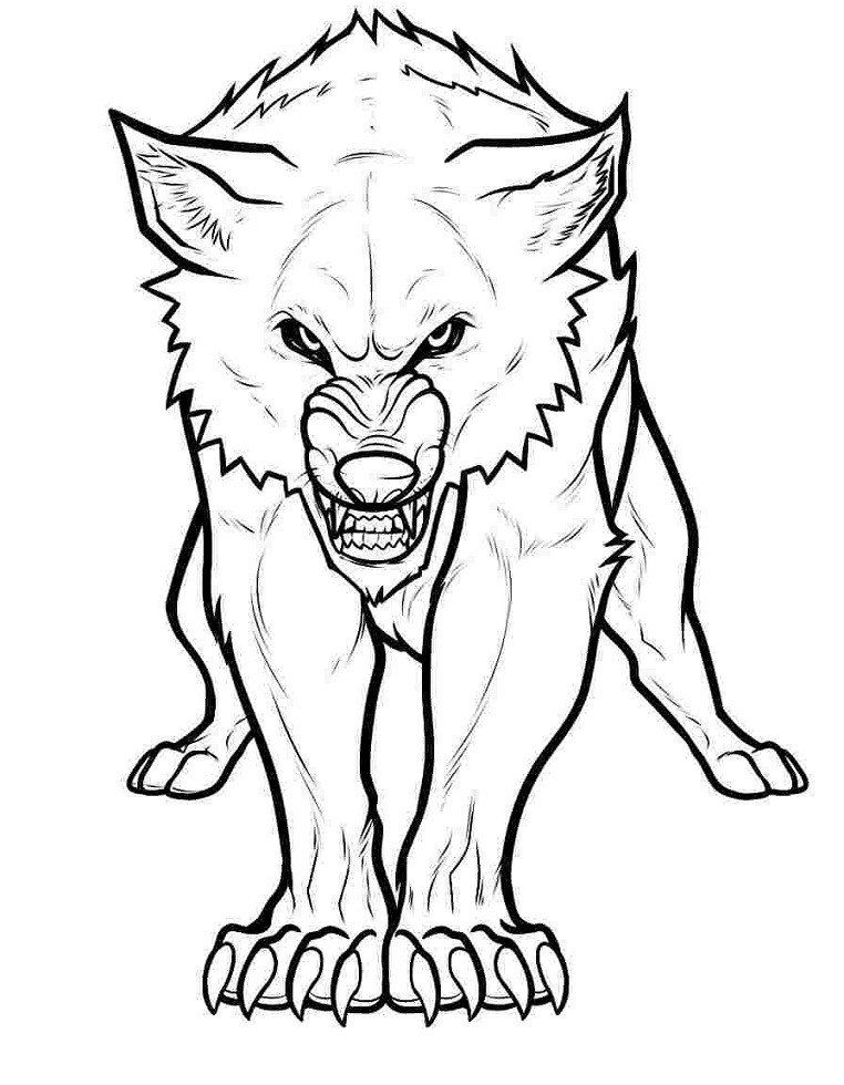 Wolf Coloring Pages Printable Printable Angry Wolf Coloring Page For Both Aldults And K Farm Animal Coloring Pages Cartoon Coloring Pages Animal Coloring Pages