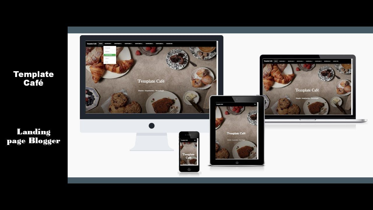 Tutorial Plantilla Landing Page Blogger Template Cafe