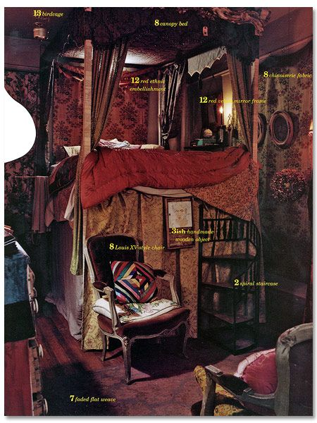 Rebecca Purcell's bedroom from Nest Magazine.