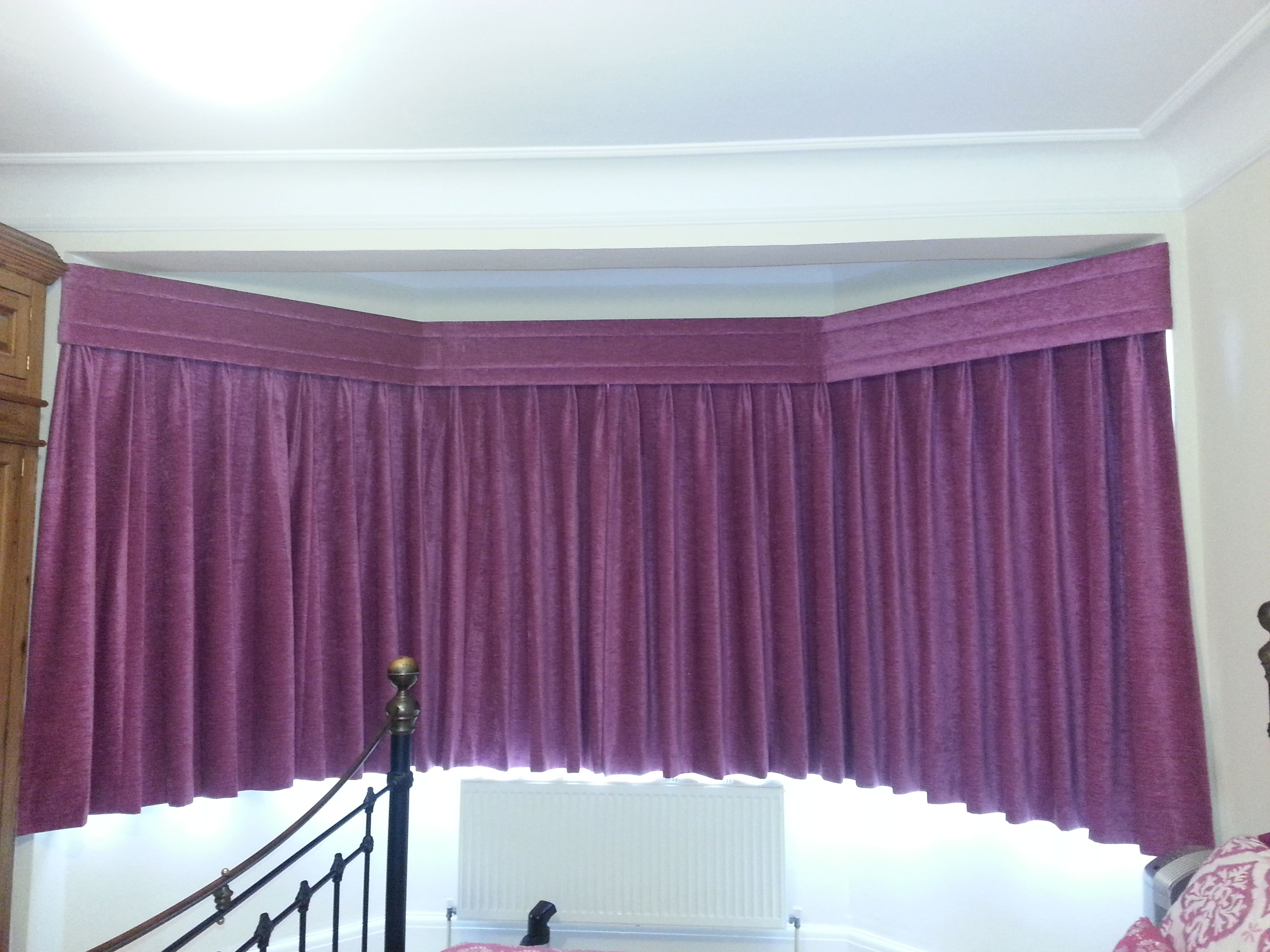 Suspended Purple Curtains by Alf Onnie