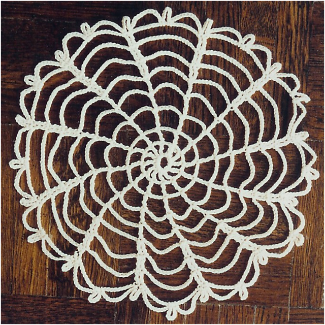 Quick and Easy Crochet Doily... my design and it is a FREE Download ...