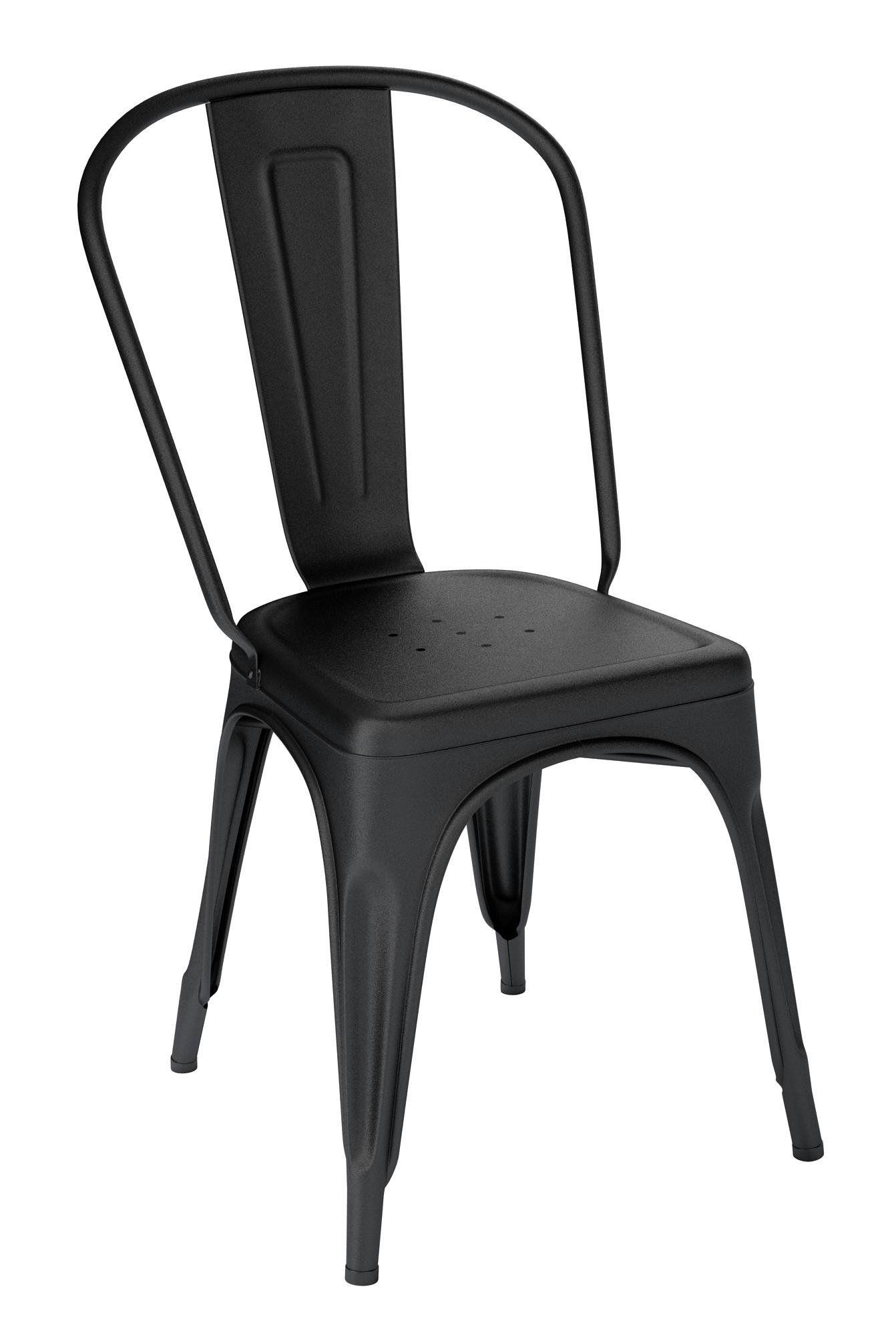 Tolix A Stuhl Indoor Schwarz Matt Indoor Edelstahlblech Stuhle Und Tolix Stuhl