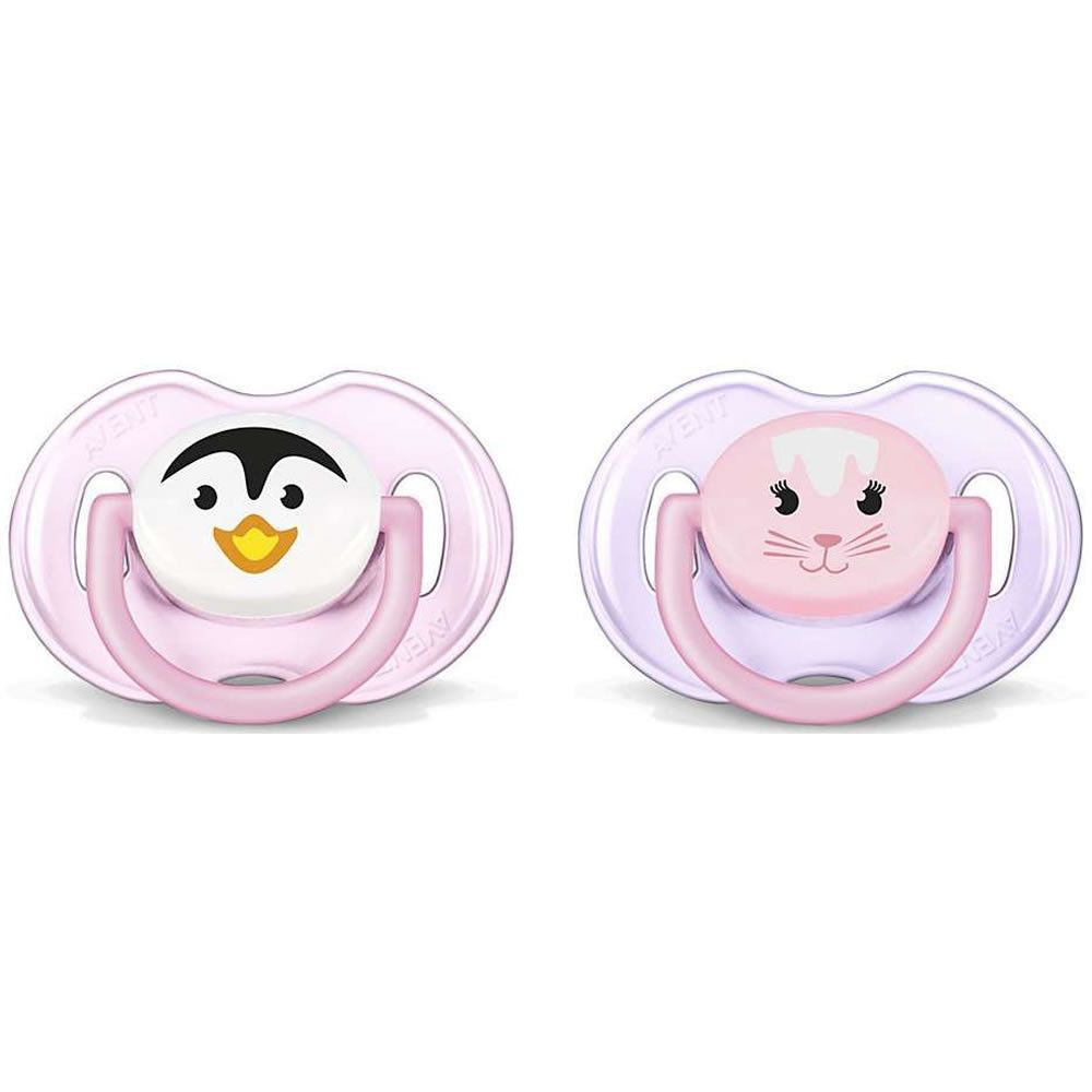 Philips Avent Animal Pacifier 0 6 Months 2 Pack For Girl Orthodentic Soother 18m Pink