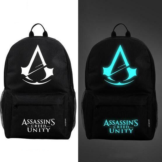 cdb2f6d624d0 2016 New fashion nightlight casual Men s backpack Anime Luminous teenagers  Men Student Cartoon School Bags travel