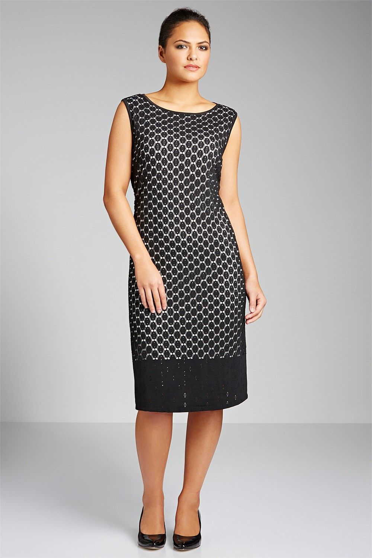 Plus Size Dresses & Evening Wear - Sara Lace Overlay Dress