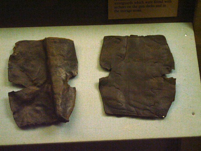 set of bracers, Mary Rose Museum