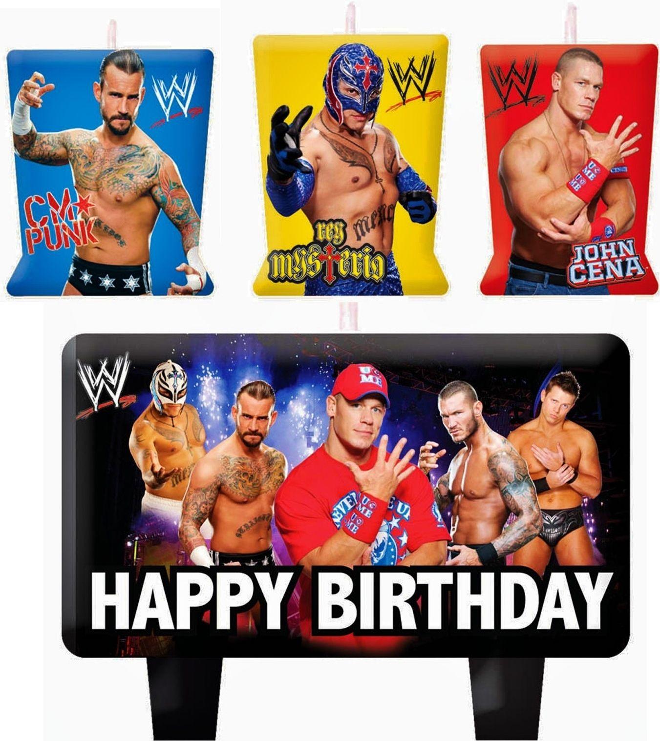 Wwe Wrestling Birthday Cake Candles Set Decoration Toppers John Cena Ebay Wrestling Birthday Wwe Birthday Party Wwe Birthday