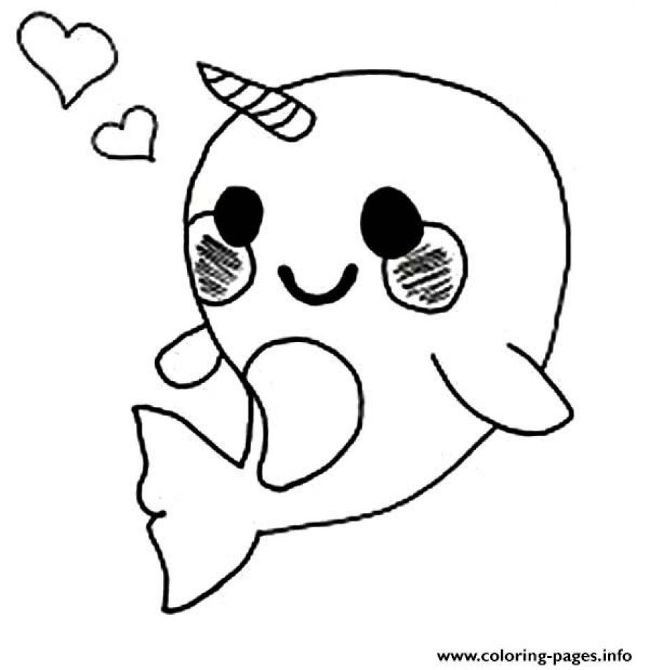 Printable narwhal coloring pages online 90455 cutepuppycoloringpictures