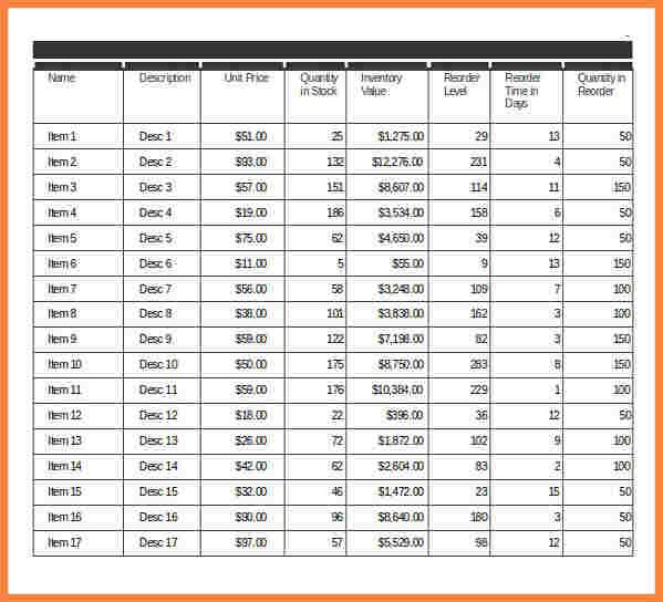 Itemized Inventory Spreadsheet Business Templates Pinterest - Restaurant Inventory Spreadsheet Template
