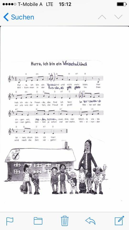 Schulanfangslied Vorschullieder Kindergarten Lieder Kinderlieder