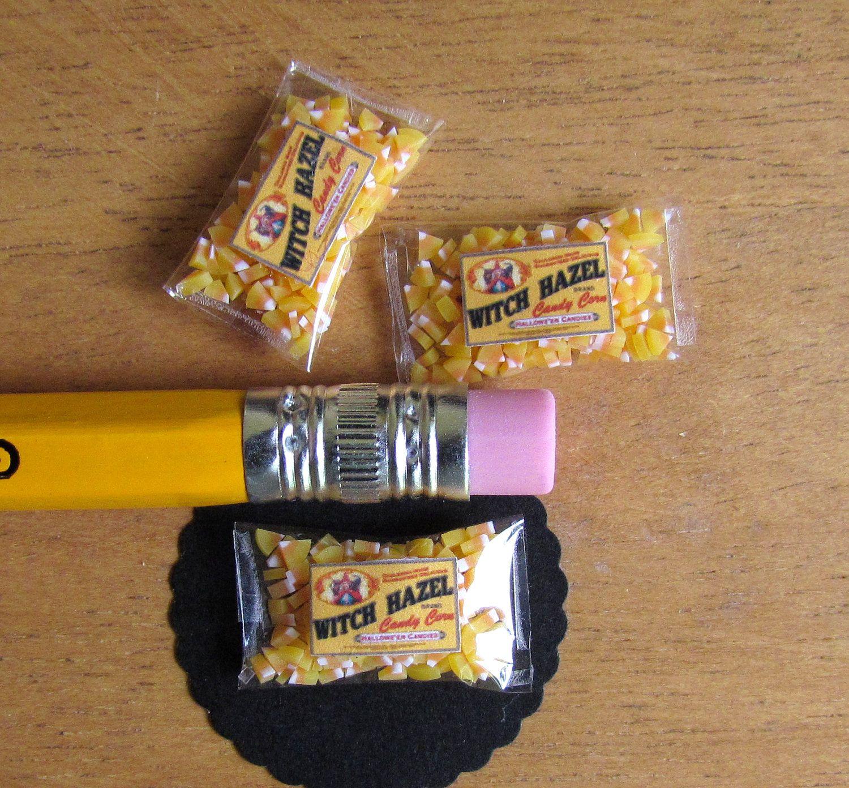 Miniature Dollhouse Food Halloween Candy Corn Bag 12th Scale ...