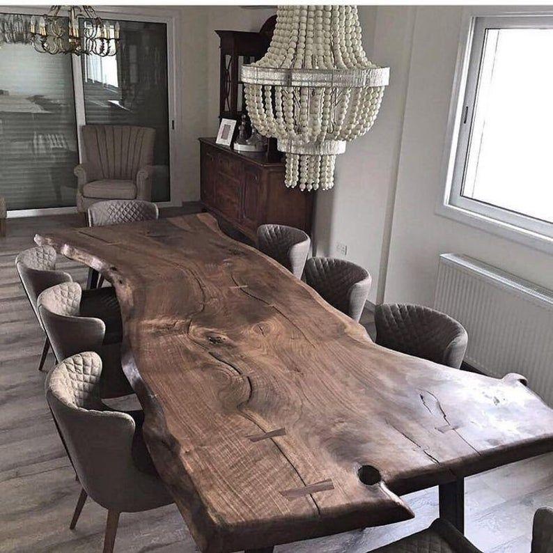 Photo of Live Edge Table,Walnut,Conference Table,Walnut Desk Live Edg…