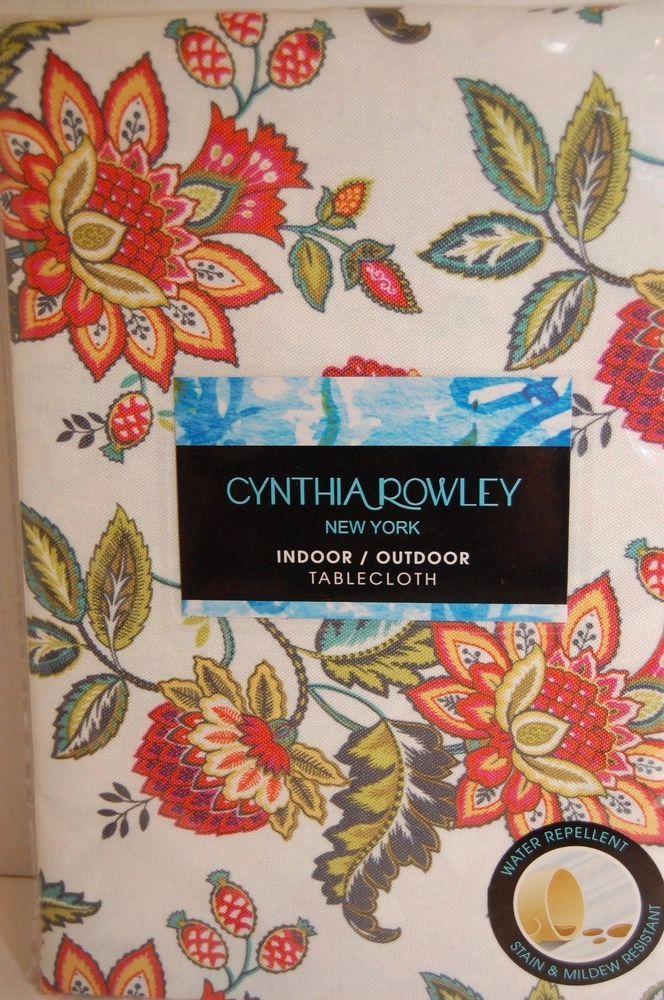 Cynthia Rowley Tablecloth Indoor Outdoor Floral 70\