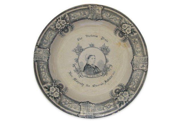 1887 Queen Victoria Jubilee Wall Plate