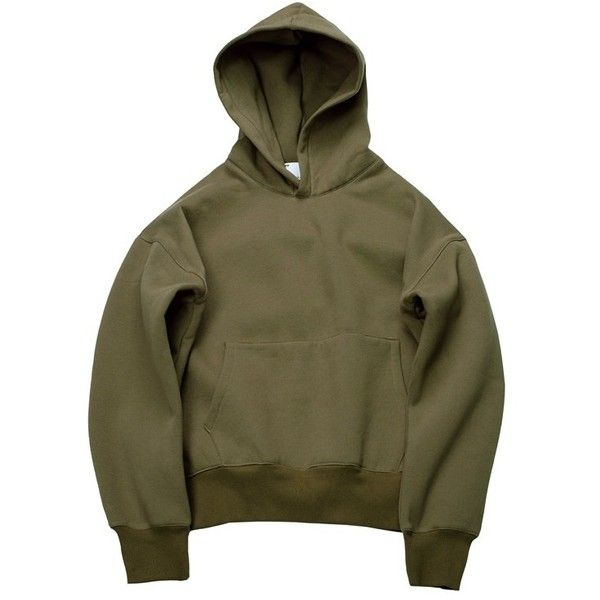 813e767b0 Yeezy Inspired Hoodie (Olive) ShopKrispy ($60) ❤ liked on Polyvore  featuring tops, hoodies, army green top, hooded pullover, olive green hoodie,  ...