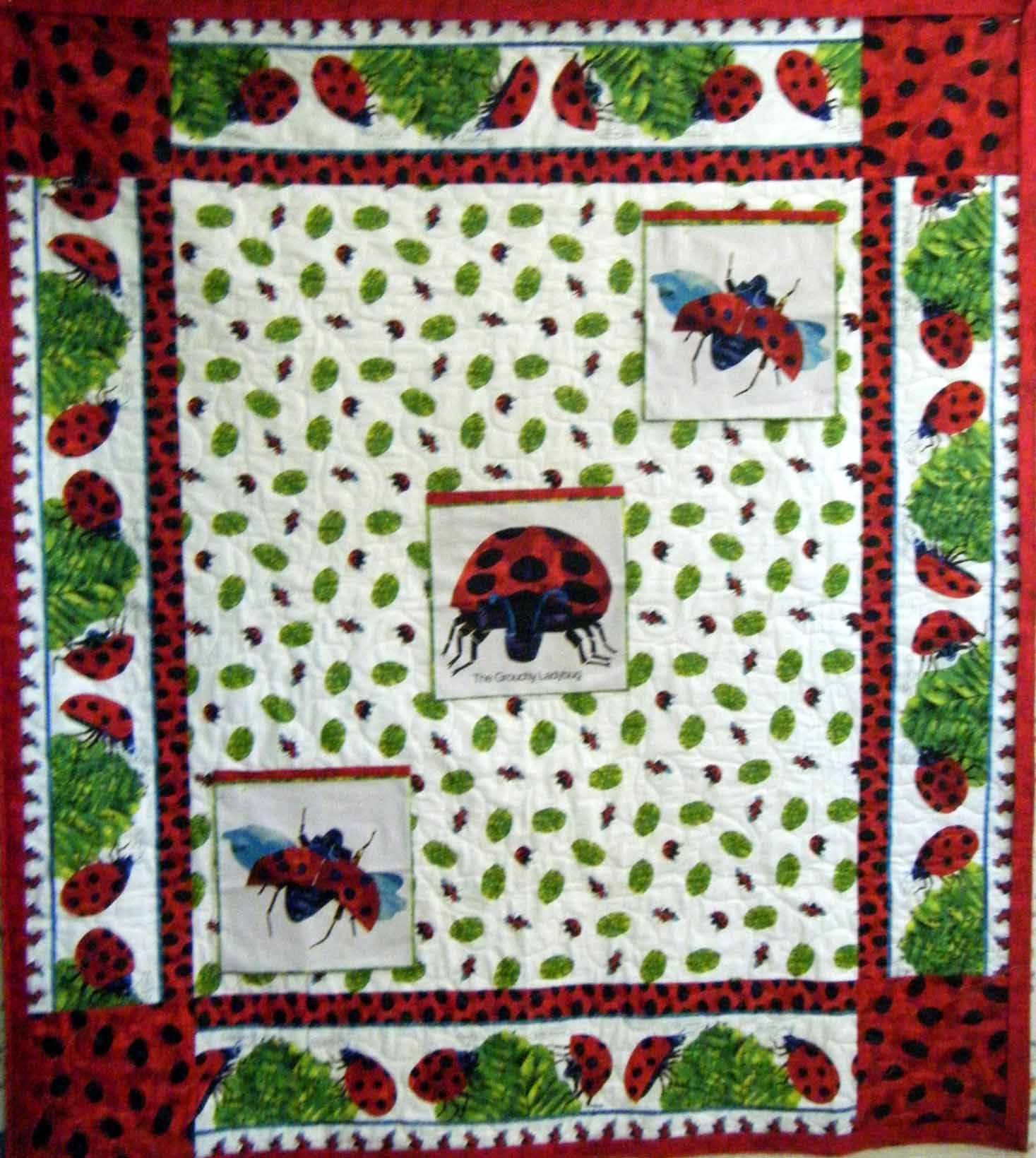 Quilts Grouchy Ladybug