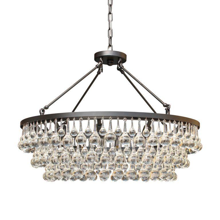 Celeste Gl Drop Crystal Chandelier Black Light Up My Home Lightupmyhome