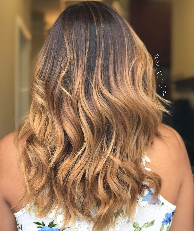 Emma Vazquez Balayage hair, Caramel balayage, Balayage