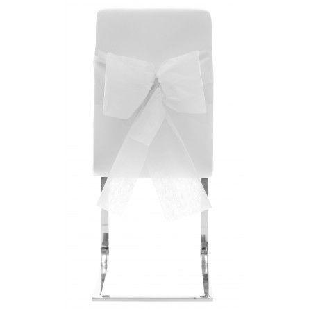 Stuhlschleife Vlies-weiß (10 Stück)