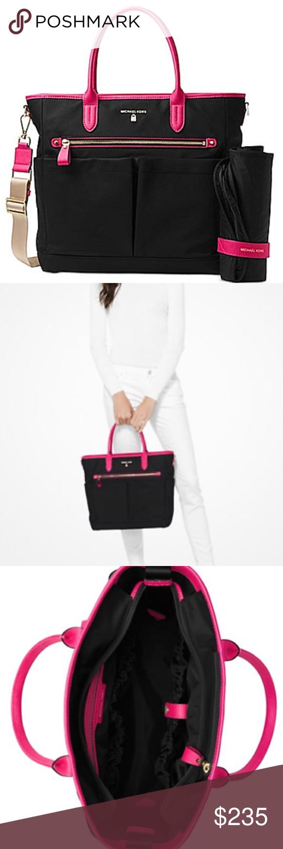 0b0f51ffd002 Michael Kors Kelsey Large Diaper Black Ultra pink MICHAEL Michael Kors  Kelsey Large Diaper Bag