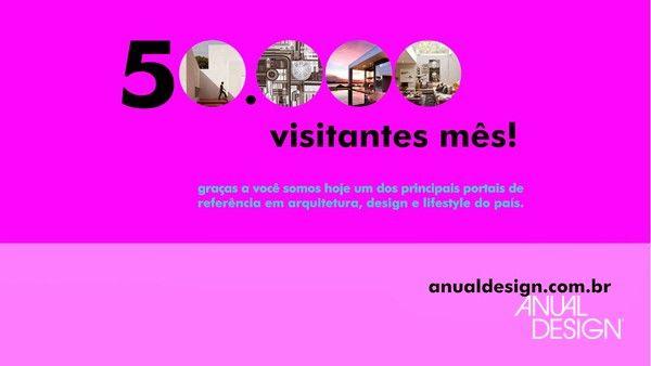 O portal Anual Design atinge expressiva marca e está entre os mais visitados do Brasil.