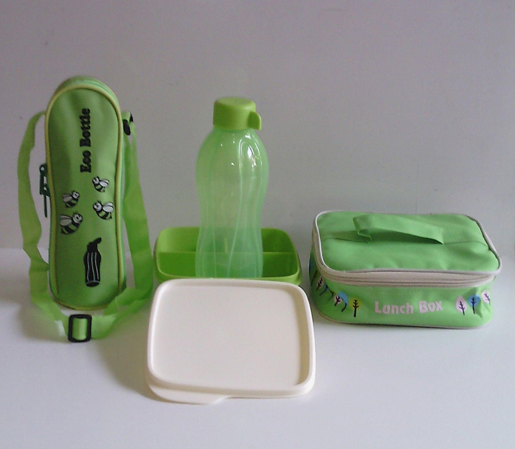 Jual Paket Hijau Tupperware Lolly Tup Eco Bottle 500ml Dan Tas  Bb 1 Plus Tuppy Lovers