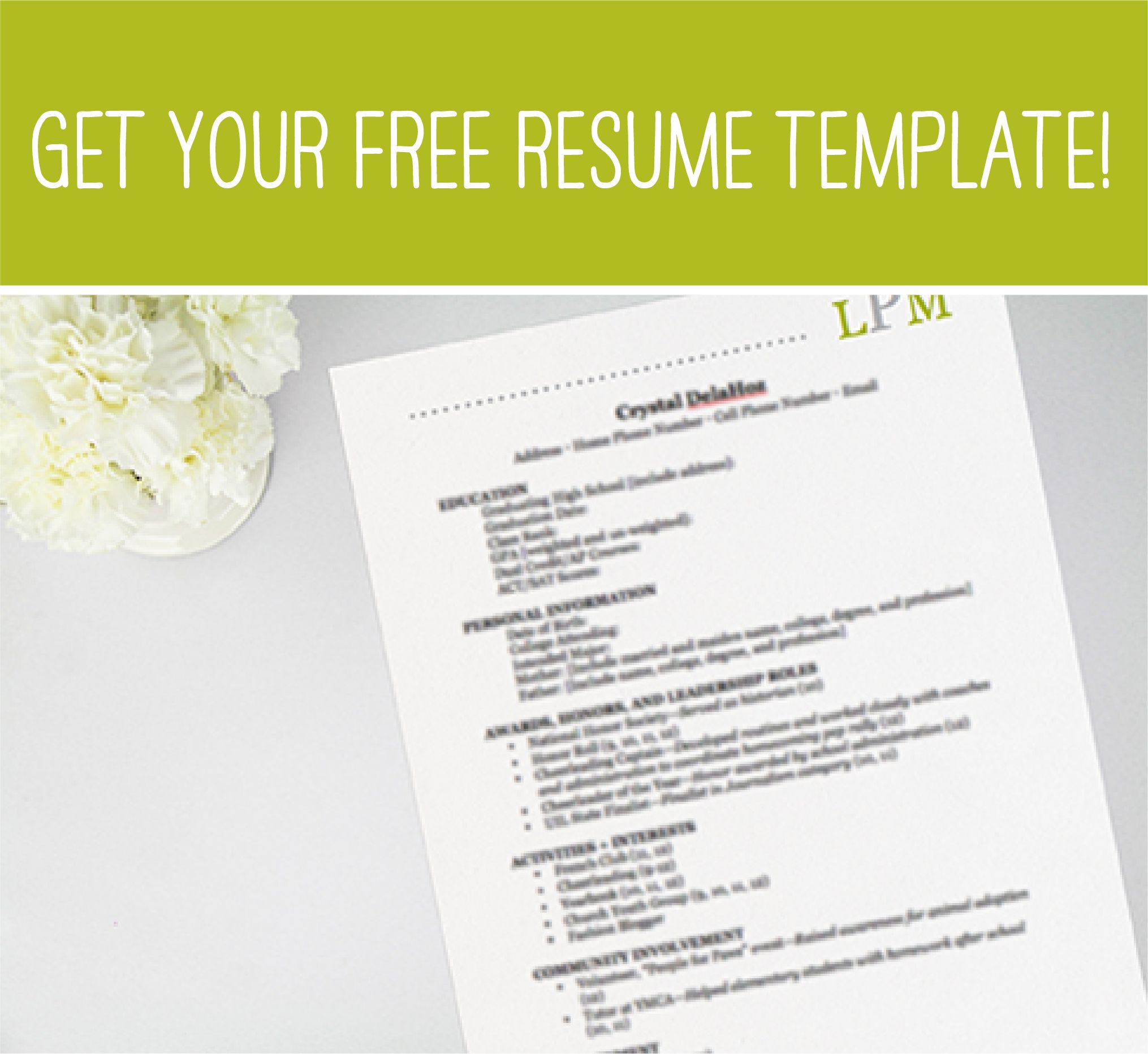 Free Rush Template Resume Template Free Sorority Resume Resume Cover Letter Template