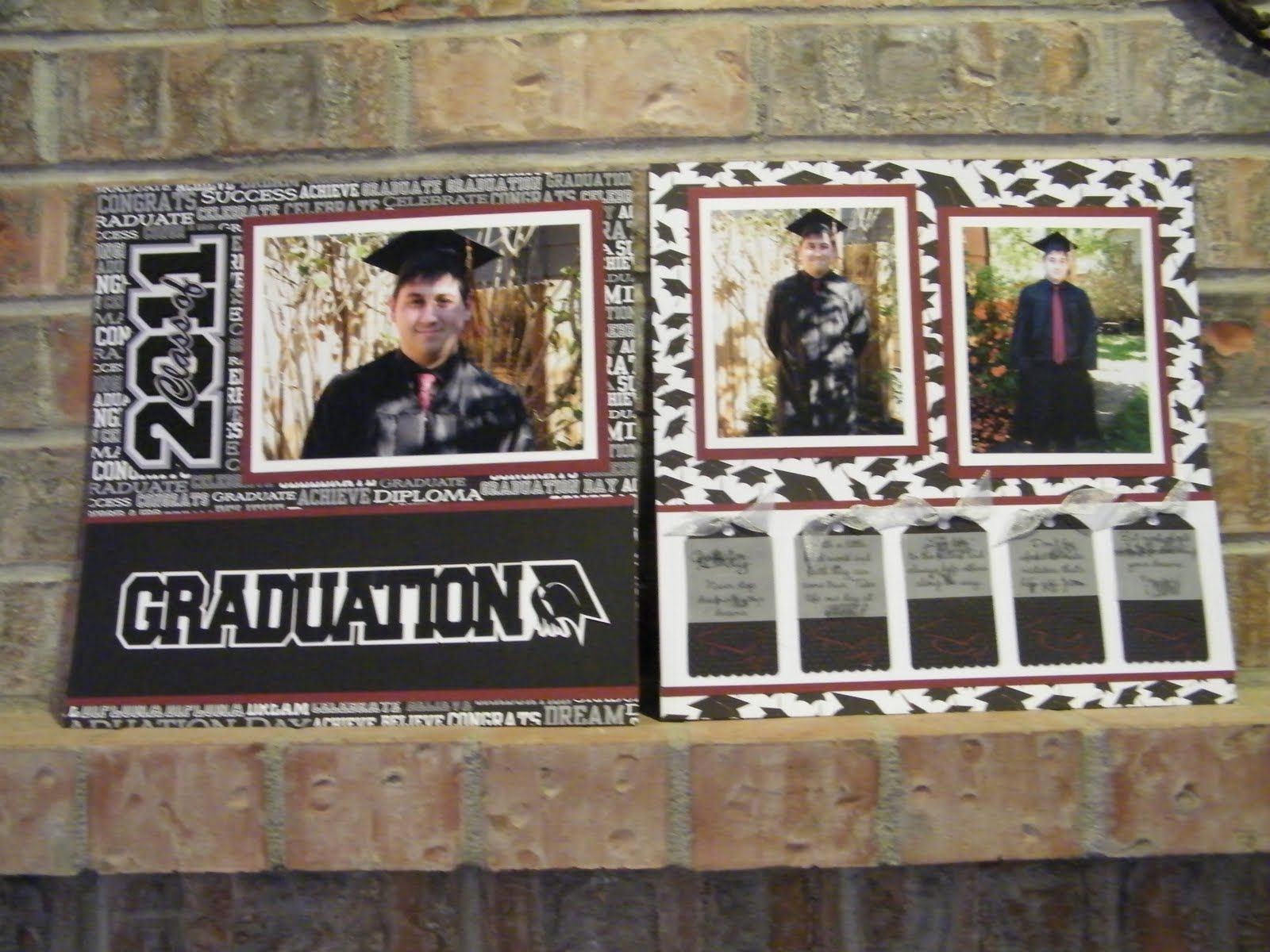 Graduation scrapbook ideas pinterest - Graduation Scrapbook Page Ideas And Then I Finished The Album With Some