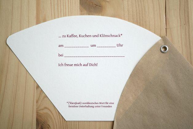 Einladung Zum Kaffeetrinken Kaffeeklatsch Einladung Gestalten Einladungen Gutschein Geburtstag