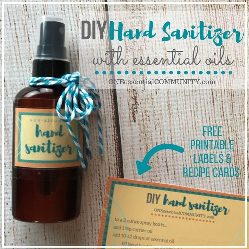 Natural Diy Hand Sanitizer Spray Natural Hand Sanitizer