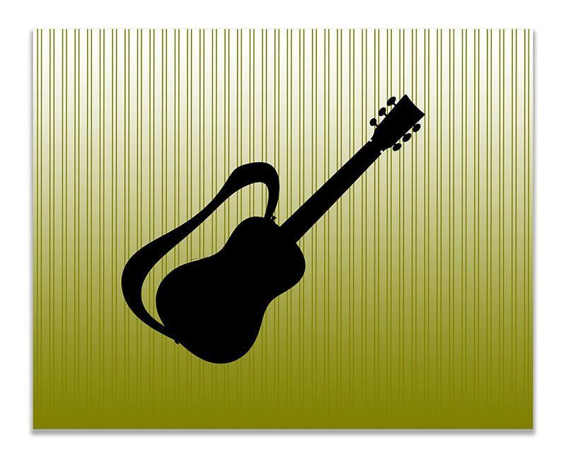 Guitar with Strap Children\'s Print Wall Art | Guitars and Products