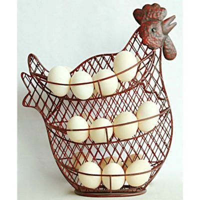 Red Shed Wire Chicken Egg Holder Popular Kitchens Chickens Backyard Egg Holder