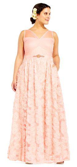e5303fca23c4 Adrianna Papell | Embellished Petal Chiffon Ball Gown | Talia's ...